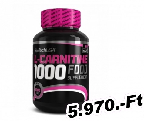 BioTech USA L-Carnitine 1000 mg - 60 tabletta