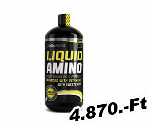 BioTech USA Liquid Amino citrom - 1000 ml