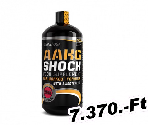 BioTech USA AAKG Shock Extreme - 1 000 ml narancs