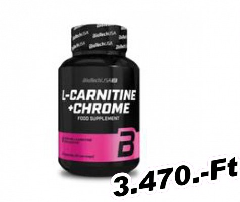 BioTech USA L - Carnitine + Chrome 60 kapszula