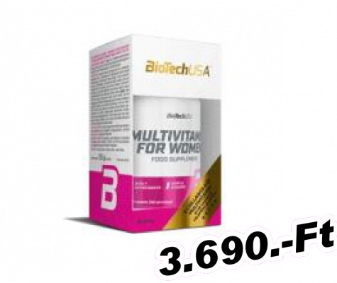 BioTech USA Multivitamin for Women - 60 tabletta