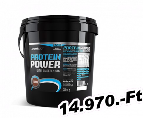 BioTech USA Protein Power - 4000 g eper-banán
